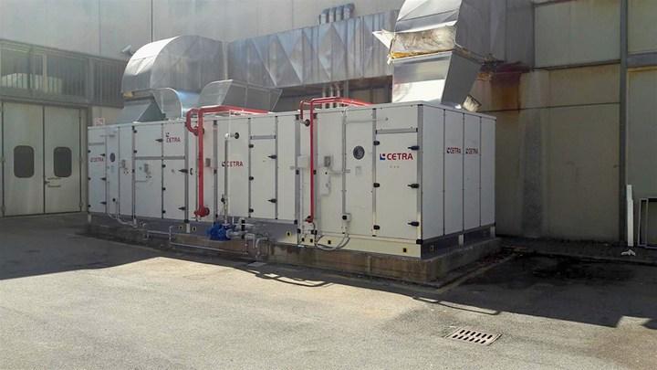 Una centrale di trattamento aria al servizio di uno stabilimento toscano
