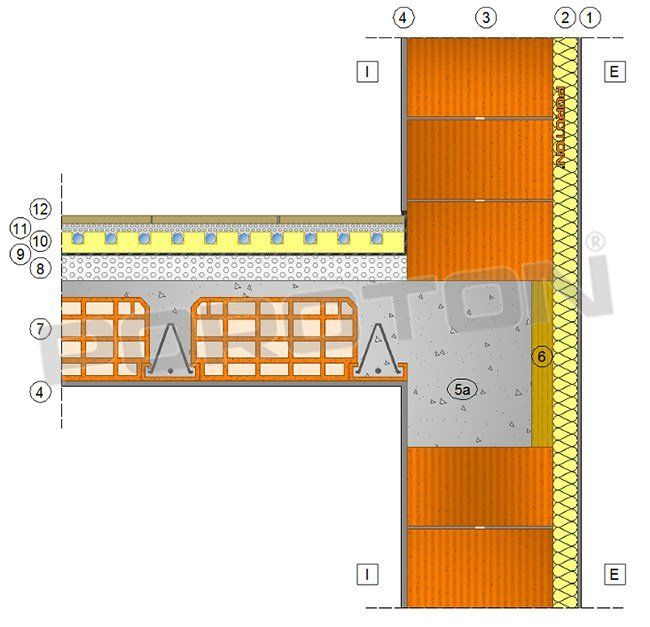 Ponti termici, Poroton spiega il nodo parete-solaio