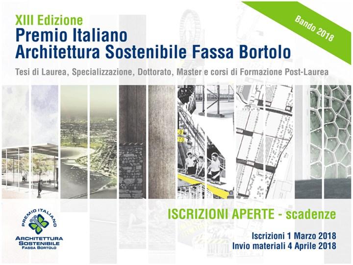 XIII Premio Italiano Architettura Sostenibile Fassa Bortolo