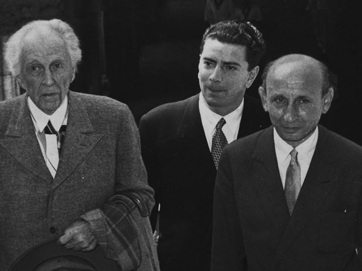 F. L. Wright con Bruno Zevi e Giuseppe Samonà in visita a Venezia, 1951 Collezione Archivio Iconografico Iuav