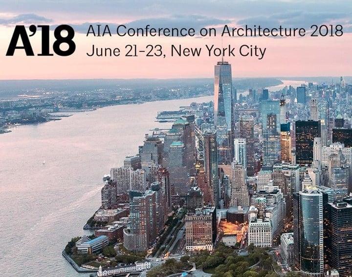Master all'AIA Conference on Architecture 2018 di New York