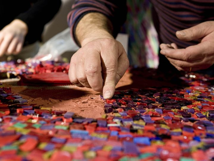 Mosaico in marmo © Giulio Candussio