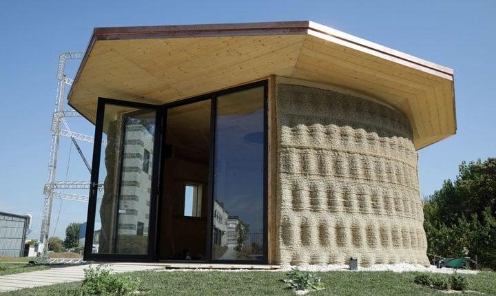 Gaia, la prima casa fatta di terra e stampata in 3D