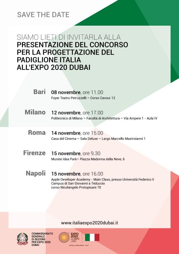 Al via il Roadshow per il Padiglione Italia 2020
