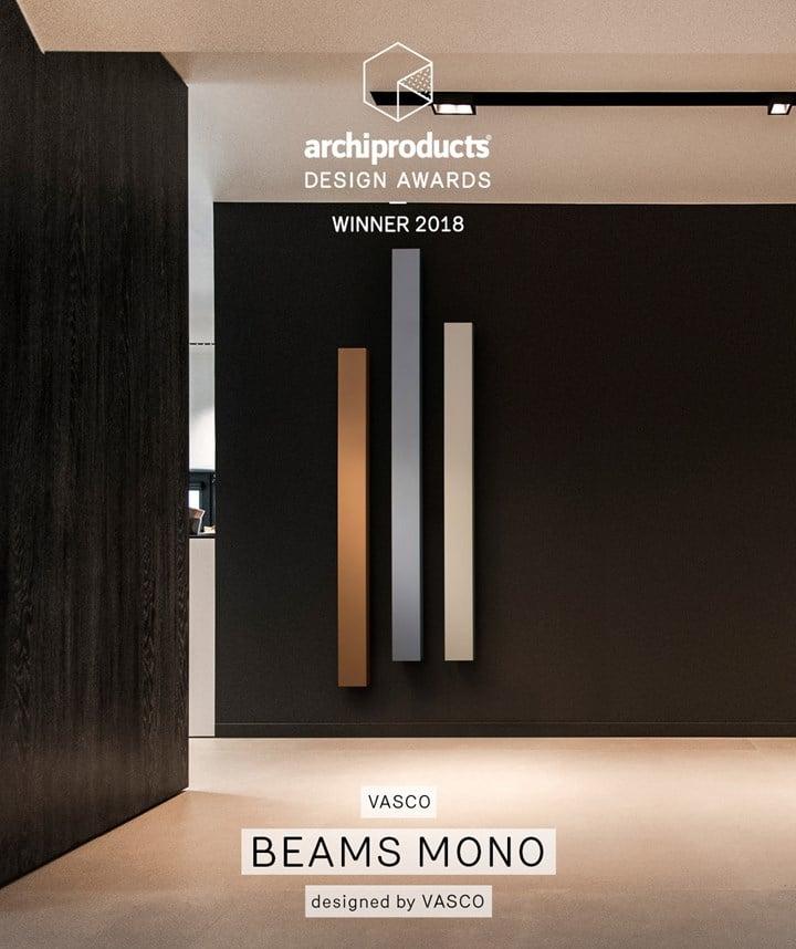 Beams Mono di Vasco agli Archiproducts Design Award 2018