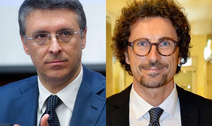 Raffaele Cantone, presidente Anac e Danilo Toninelli, Ministro Infrastrutture e Trasporti