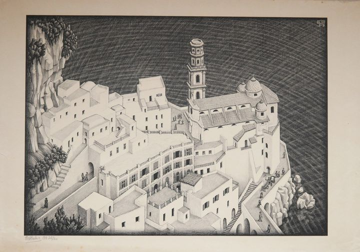 Atrani, Costiera amalfitana, 1931 - All M.C. Escher works © 2018 The M.C. Escher Company. All rights reserved