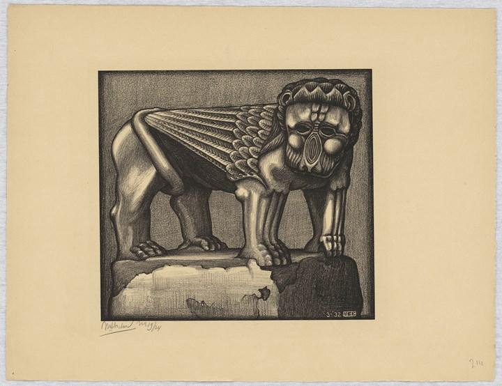 Leone della Fontana nella Piazza di Ravello, 1932 -  All M.C. Escher works © 2018 The M.C. Escher Company. All rights reserved