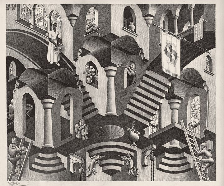 Convesso e concavo, 1955 - All M.C. Escher works © 2018 The M.C. Escher Company. All rights reserved