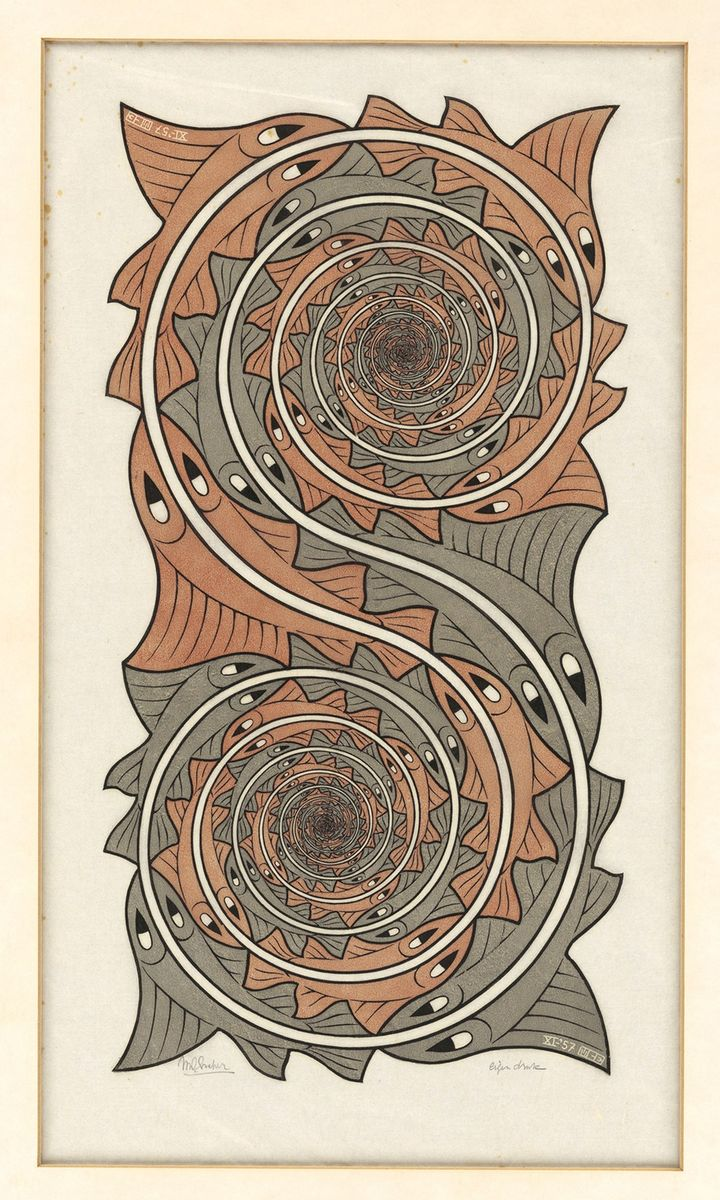 Vortici, 1957 - All M.C. Escher works © 2018 The M.C. Escher Company. All rights reserved