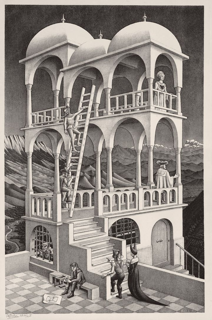 Belvedere, 1958 - All M.C. Escher works © 2018 The M.C. Escher Company. All rights reserved