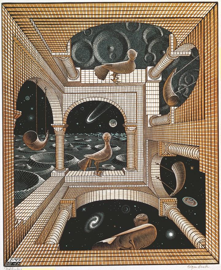 Altro mondo II, 1947 - All M.C. Escher works © 2018 The M.C. Escher Company. All rights reserved
