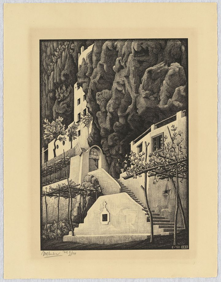 San Cosimo, Ravello, 1932 - All M.C. Escher works © 2018 The M.C. Escher Company. All rights reserved