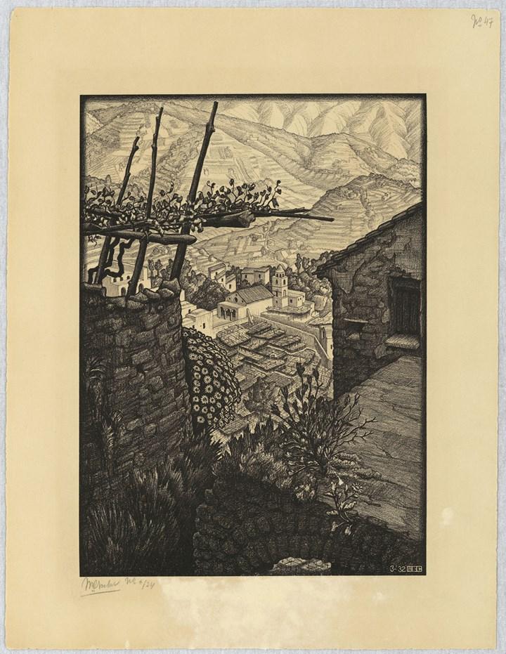 (Il Borgo di) Turello, 1932 - All M.C. Escher works © 2018 The M.C. Escher Company. All rights reserved