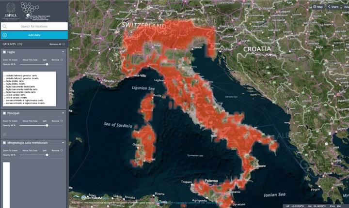 Frane, faglie attive e consumo di suolo, tutti i dati online