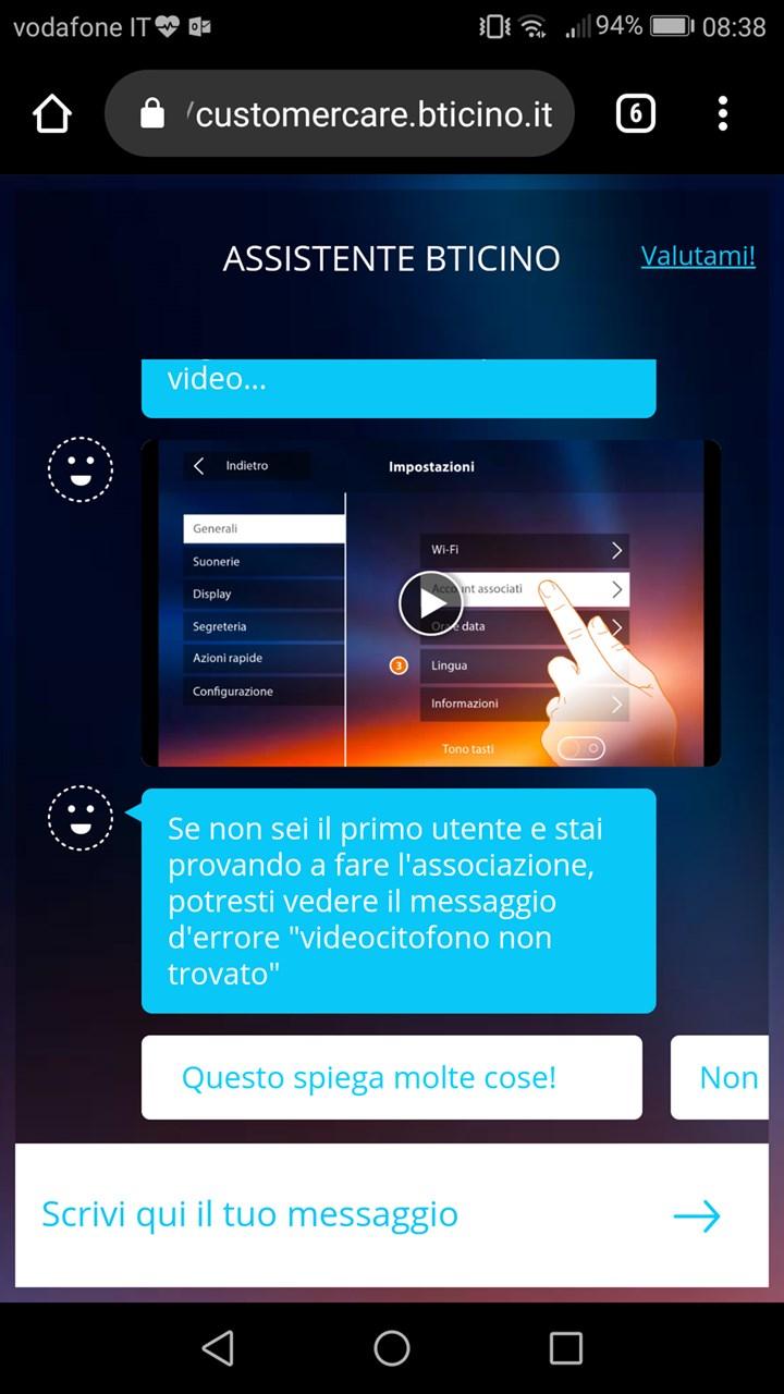 Assistente BTicino: nell'App un supporto virtuale sempre attivo per il videocitofono connesso Classe300X
