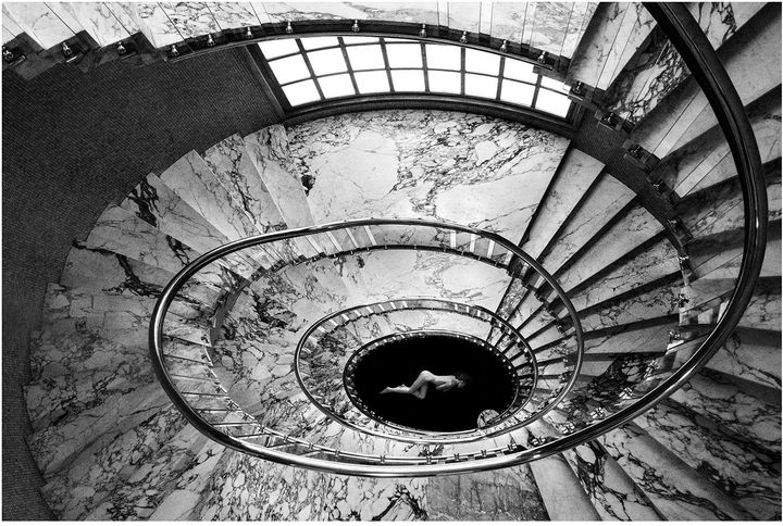 Angela Lo Priore,Stairs Obsession#4,2017,Stampa su carta Baryta Fine Art Hahnemühle 325 gr.,50 x 75 cm.,edition: Edizione di 5 esemplari,CourtesyPhoto