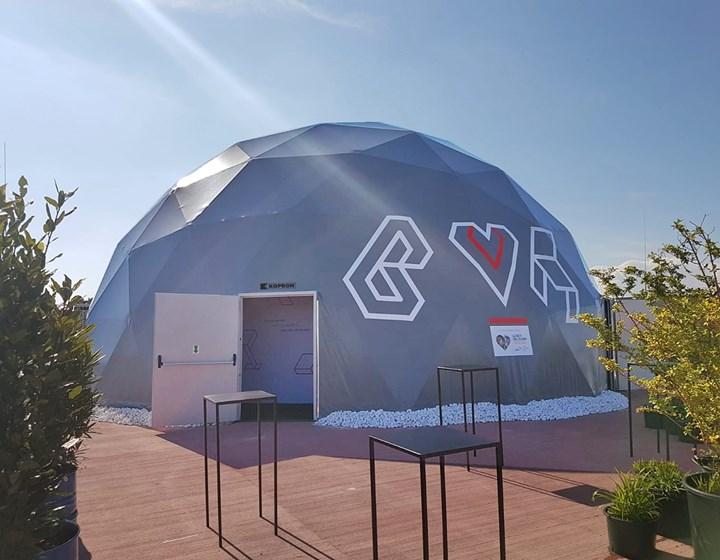 La cupola geodetica K-Igloo al Base Milano