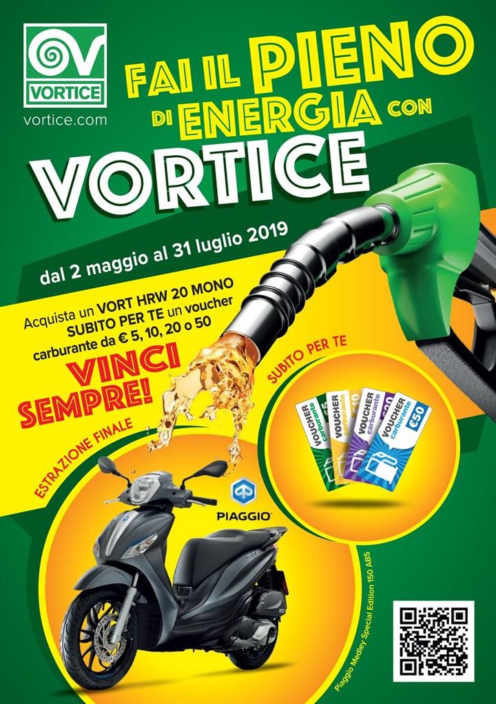 Vinci sempre con il nuovo Concorso 'Fai il pieno di energia con VORTICE'