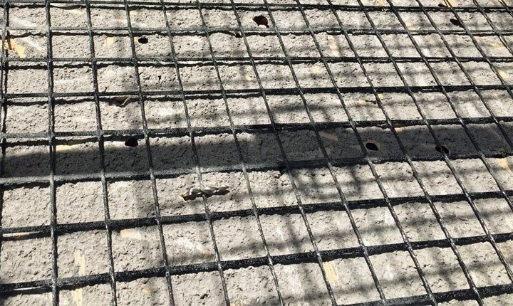 Foto: intonaco armato CRM Fibre Net