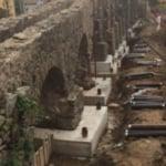 Consolidamento di un antico acquedotto romano in pietra