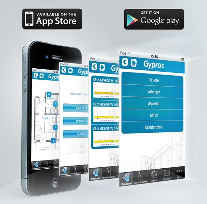 Lavora e progetta con la APP Gyproc