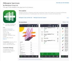 Pilkington Spectrum diventa un'app per smartphone