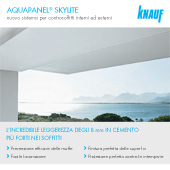 Nuovi controsoffitti interni ed esterni Aquapanel SkyLite