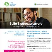 Suite Sicurezza Lavoro gratuito fino al 31 dicembre 2015. Richiedilo Adesso