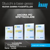 Nuovo stucco in polvere Fugenfüller Knauf: migliori prestazioni e packaging funzionale