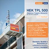 Piattaforme di trasporto e montacarichi Alimak Hek: forti, robuste e di qualità