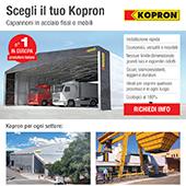 Capannoni Kopron in acciaio fissi o mobili per ogni settore
