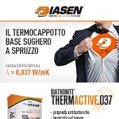 Il termocappotto base sughero a spruzzo Diathonite Thermactive.037