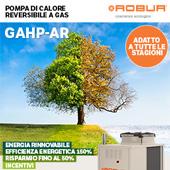 Pompa di calore reversibile a gas per tutte le stagioni