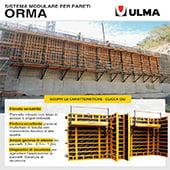 Cassaforma verticale modulare per parete Orma