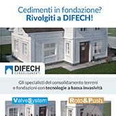 Consolidamento fondazioni e terreni di fondazione con DIFECH