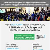 Acca a Digital&BIM, vieni a scoprire il BIM italiano n.1 facile e per tutti: biglietto omaggio