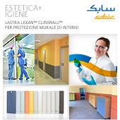 Lastre termoplastiche Lexan per rivestimenti di pareti interne