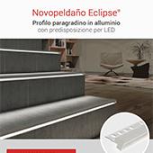Profilo decorativo in alluminio con predisposizione per LED