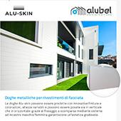 Doghe metalliche Alu-skin per rivestimenti di facciata