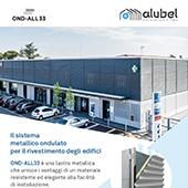 Rivestimento di facciata con lastre in alluminio Ond-All 33