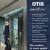 Nuovi ascensori per piccoli spazi, anche 230 V: guarda il video di OTIS Gen2 Flex+