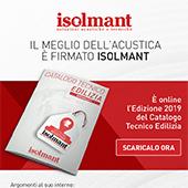Catalogo Tecnico Edilizia 2019: il meglio dell'acustica è firmato Isolmant