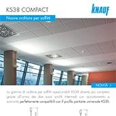 KS38 Compact, nuove orditure per soffitti ispezionabili Knauf | scarica la brochure