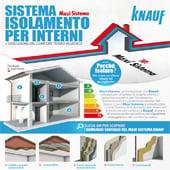 Maxi Sistema Knauf: isolamento termo-acustico per interni