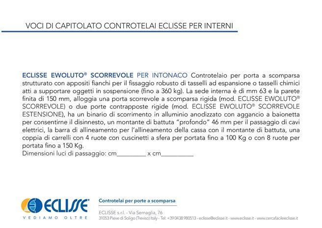 ECLISSE Ewoluto® Scorrevole