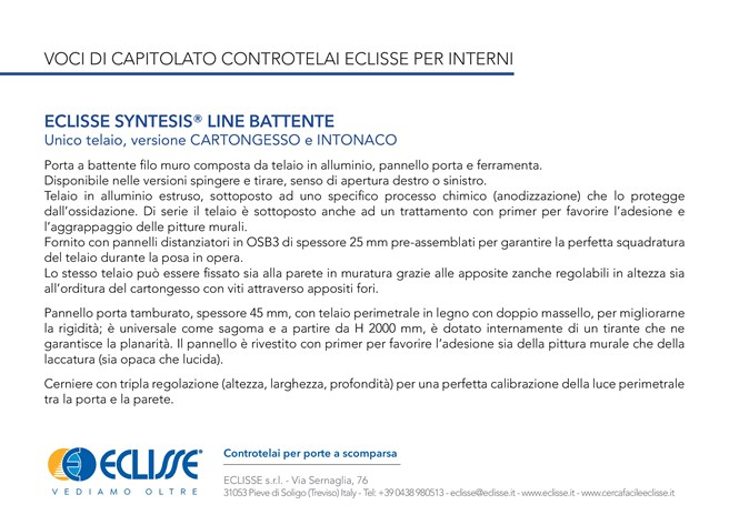ECLISSE Syntesis® Line Battente