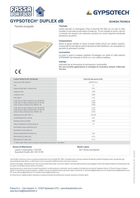 FASSA STE GYPSOTECH DUPLEX DB 2020 06 (it)
