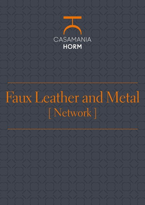 Faux leather and metal