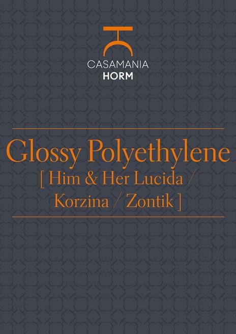 Glossy polyethylene